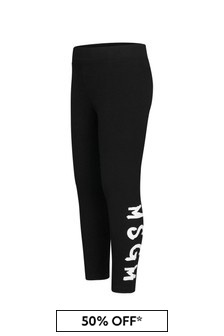 MSGM Girls Cotton Leggings