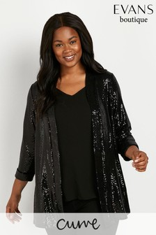 Evans Curve Black Sparkle Jacket