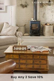 Garrat Dark Chestnut 9 Drawer Coffee Table