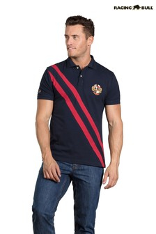 Raging Bull Blue Heritage Pique Polo
