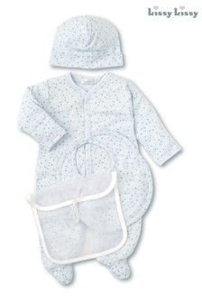 Kissy Kissy Blue Multi Stars 3 Piece Gift Set
