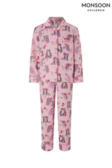 Monsoon Pink Nara Horse Flannel Pyjamas