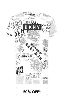 DKNY White Cotton Dress