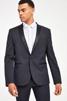 Skinny Fit Tuxedo Suit: Jacket
