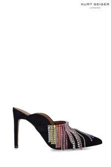 Kurt Geiger London Black Duke Rainbow Shoes