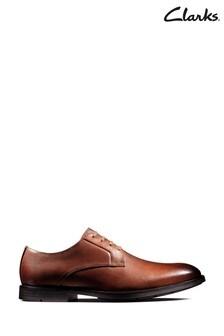 Clarks British Tan Lea Ronnie Walk Shoes