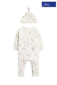 Joules Cream Giggle Supersoft Babygrow