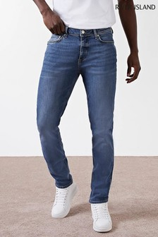 River Island Blue Medium Martin Rustic Slim Jeans