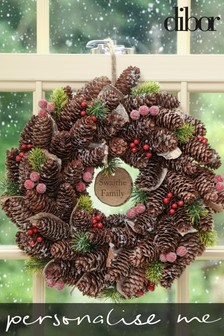 Personalised Frosted Berries Wreath by Dibor