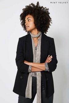 Mint Velvet Black Double Breasted Blazer