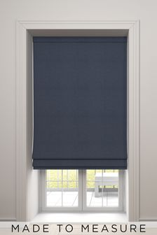 Soho Indigo Blue Made To Measure Roman Blind