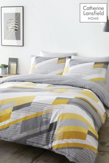 Catherine Lansfield Harley Geo Duvet Cover and Pillowcase Set