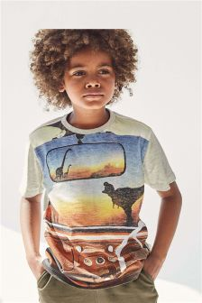 Dinosaur Car T-Shirt (3-16yrs)