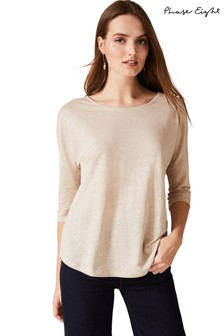 Phase Eight Neutral Catrina Linen Top