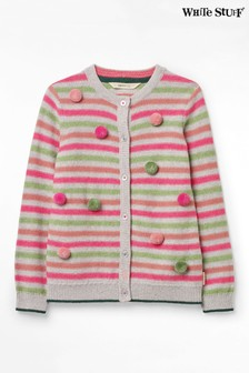 White Stuff Natural Kids Clemmi Stripe Cardigan