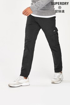 Superdry Black Core Cargo Trousers