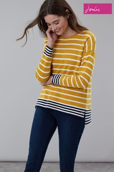 Joules Yellow Uma Boat Neck Jumper