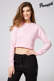 Pineapple Loopback Crew Crop Sweater