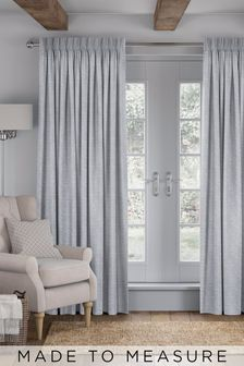 Linara Fog Blue Made To Measure Curtains