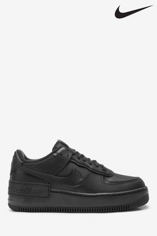 Nike Black Air Force 1 Shadow Trainers