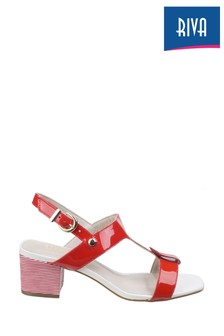 Riva Red Hot Heels Fabia T-Bar Mule Sandals