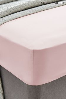 Laura Ashley Blush 400 Thread Count Cotton Fitted Sheet