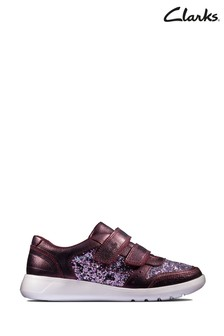 Clarks Berry Leather Scape Spirit K Shoes
