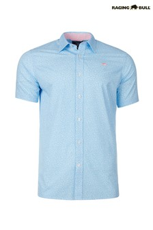 Raging Bull Blue Short Sleeve Micro Daisy Shirt