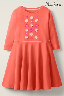 Mini Boden Pink Embroidered Ballerina Dress