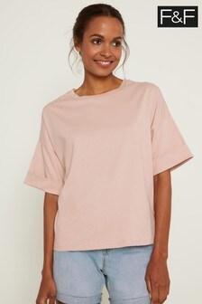 F&F Pink Boxy Boyfriend T-Shirt