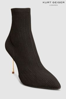 Kurt Geiger London Black Barbican Stretch Sock Boot