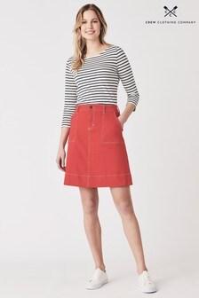 Crew Clothing Red Daphne Denim Skirt