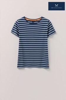 Crew Clothing Company Blue Breton T-Shirt
