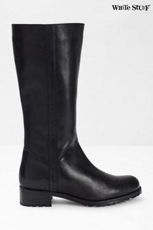 White Stuff Black Suzie Mid High Boots