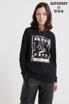 Superdry Bristow Band Graphic Long Sleeve Top