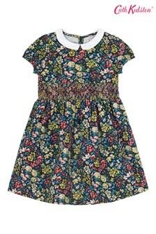 Cath Kidston® Blue Flower Meadow Smocked Waist Dress