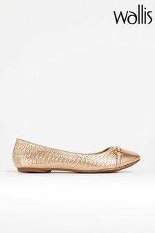נעלי בלרינה עם גימור בורוד דגם Belle של Wallis