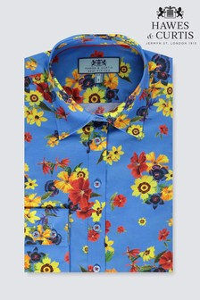 Hawes & Curtis Floral Semi Fitted Shirt