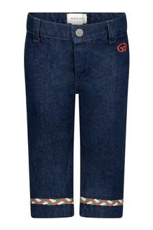 Baby Girls Blue Denim Flared Jeans