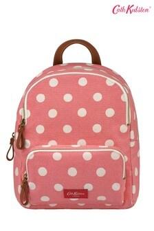 Cath Kidston® Brampton Button Spot Twill Small Pocket Backpack