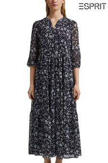 Esprit Blue Floral Maxi Dress
