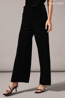 Phase Eight Black Sissy Glitter Trousers
