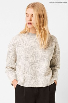 French Connection Grey Sekia Jersey Sweatshirt