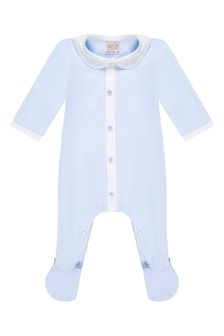 Paz Rodriguez Baby Boys Blue Cotton Babygrow