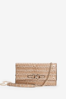 Hardware Detail Clutch Bag