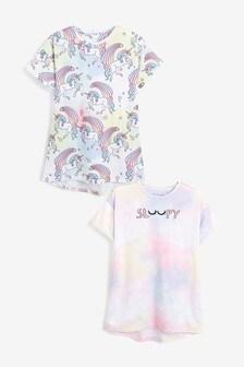 2 Pack Unicorn Print Nighties (3-16yrs)
