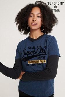 Superdry Real Originals Flccked T-Shirt