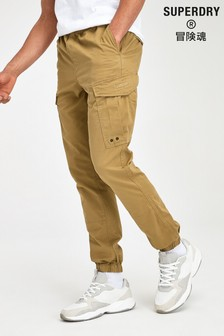 Superdry Beige Cargo Trousers