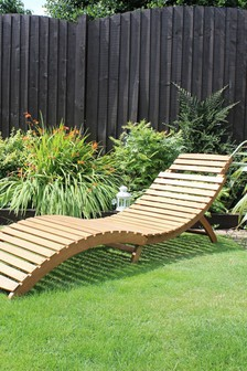 Large Foldable Sun Lounger By Charles Bentley
