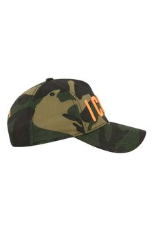 Kids Green Camouflage Cotton Cap